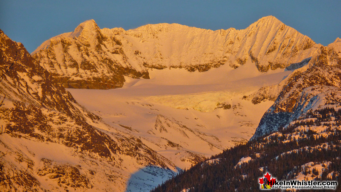 Armchair Glacier at Sunset