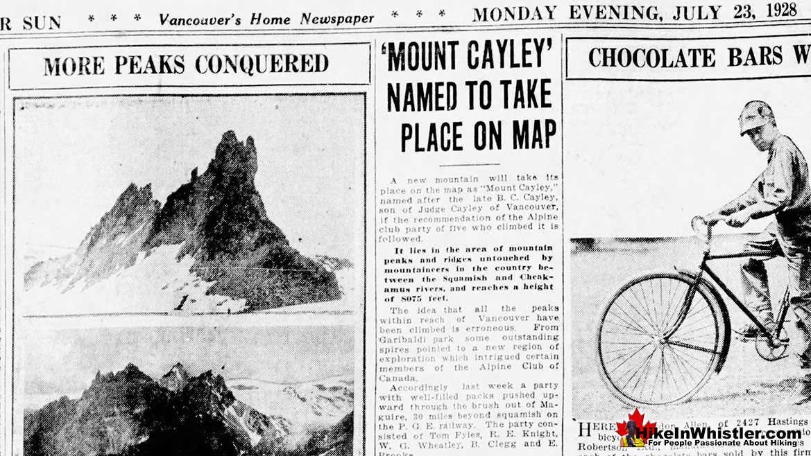 Mount Cayley 1928 Fyles Ascent