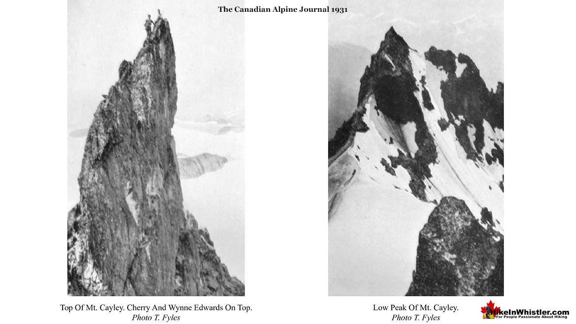 Mount Cayley Photos by Tom Fyles 1931