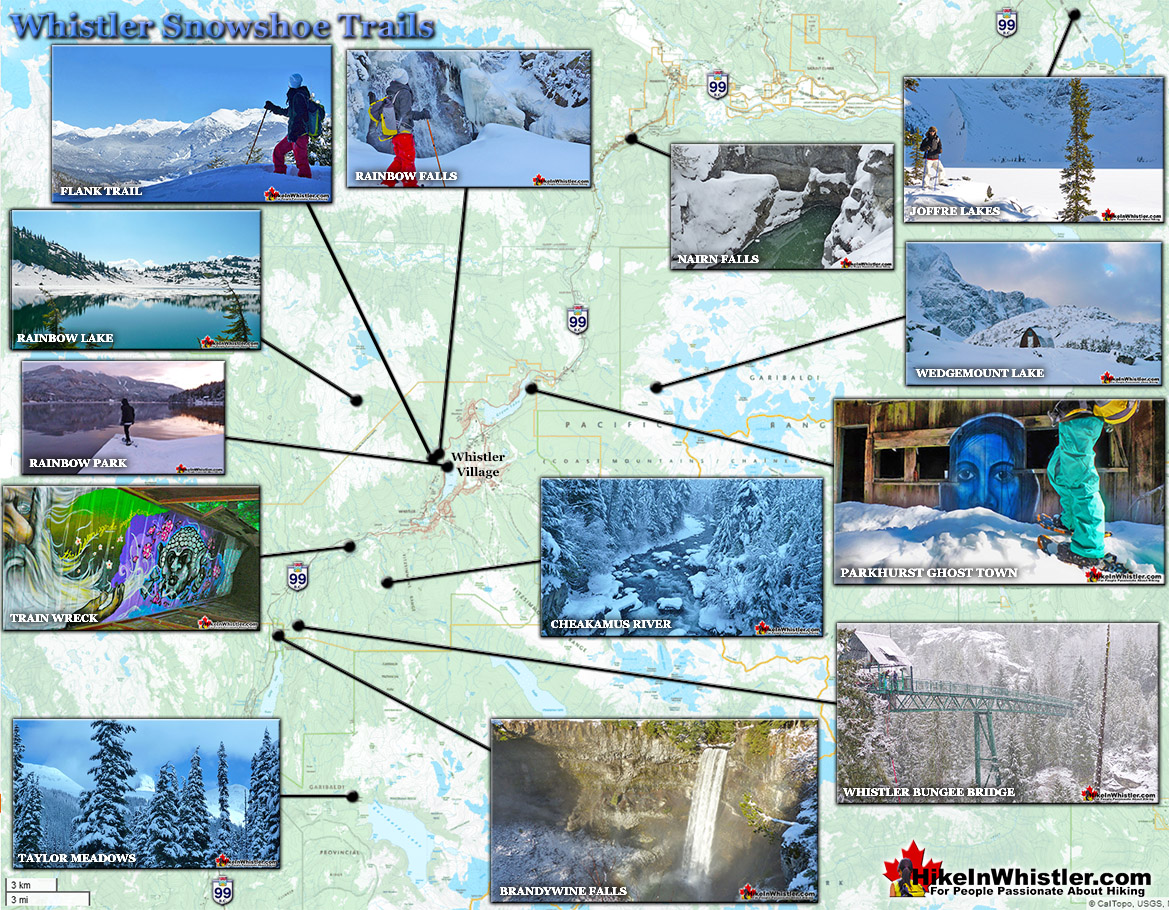 Whistler Snowhoe Trails Map 2021