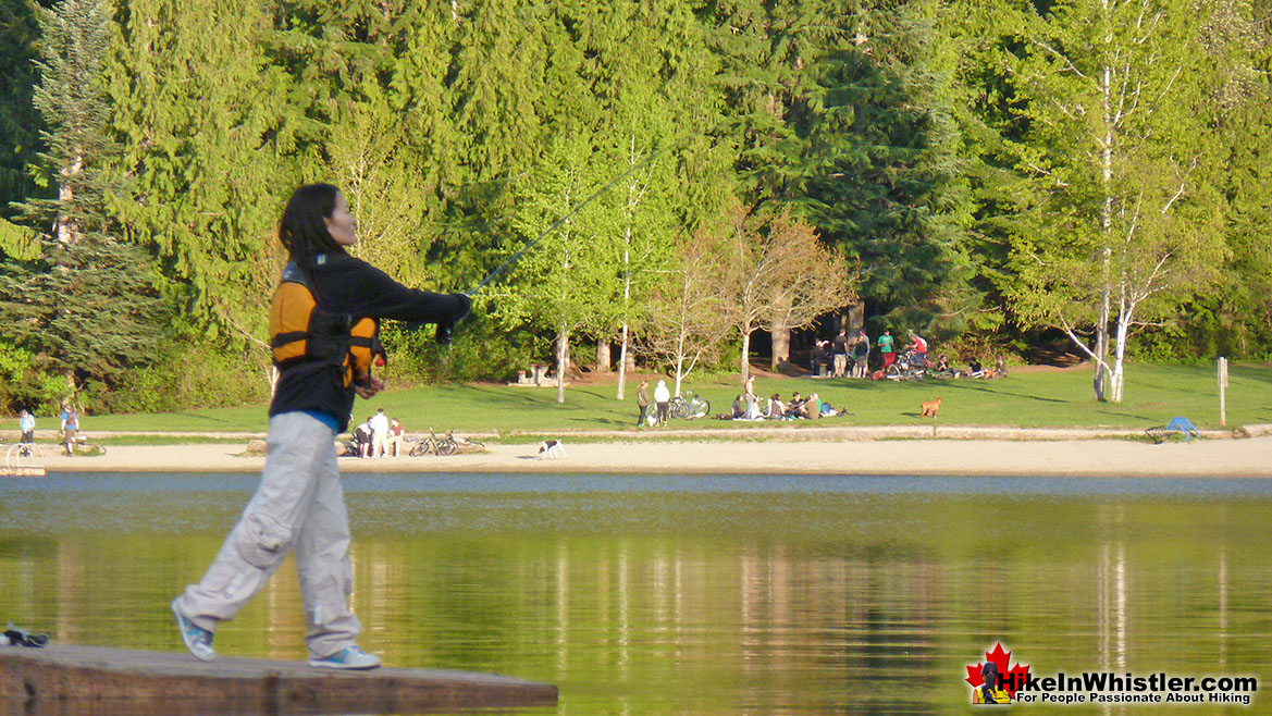 Best Whistler Parks - Lost Lake Fishing