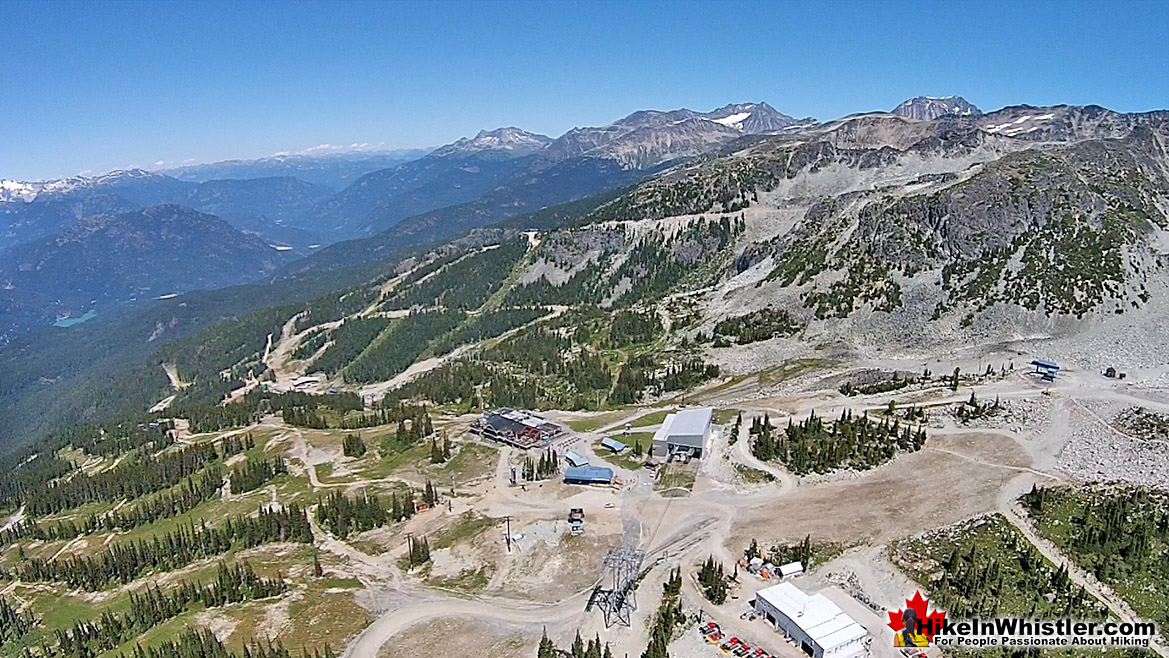 Blackcomb Mountain Aerial View of Rendezvous Lodge