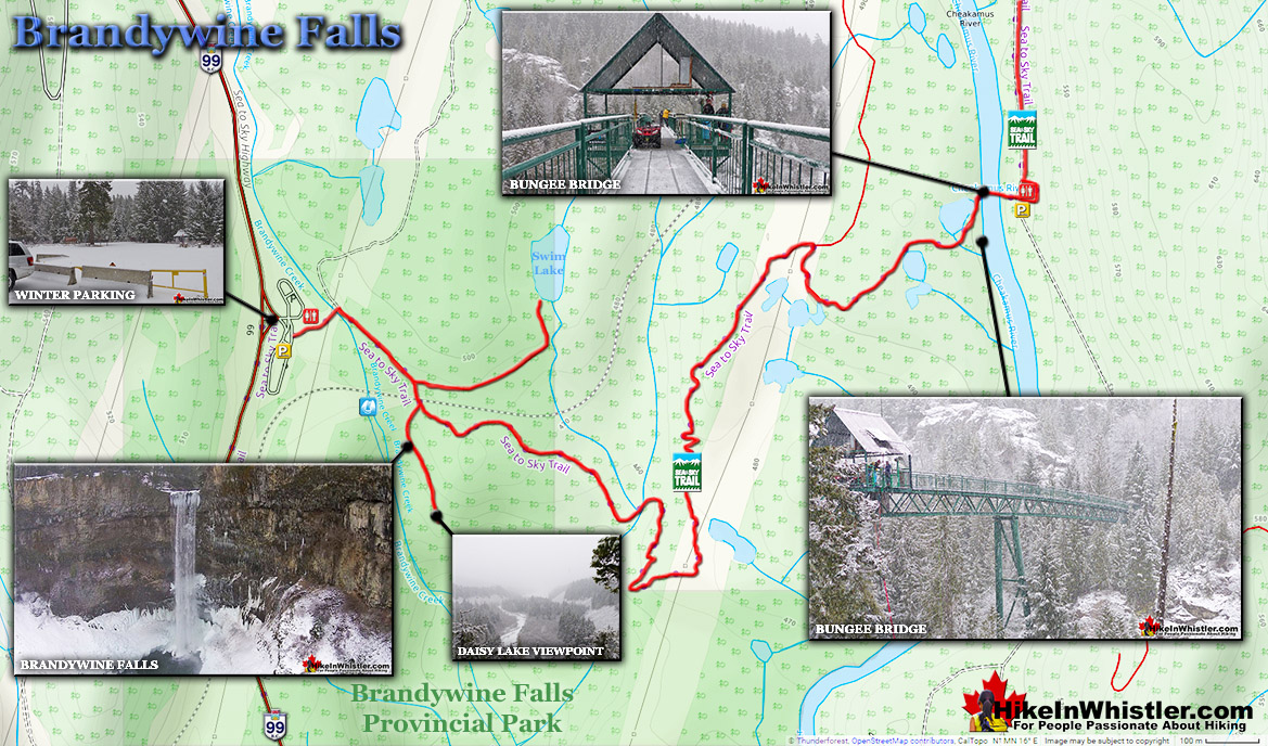 Brandywine Falls Map Winter