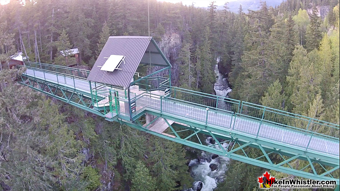 Whistler Bungee Bridge Summertime Aerial View