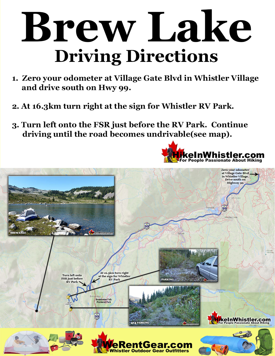 Brew Lake Driving Directions Map