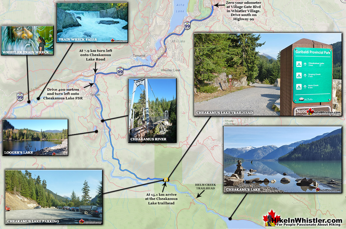 Cheakamus Lake Trail Directions Map