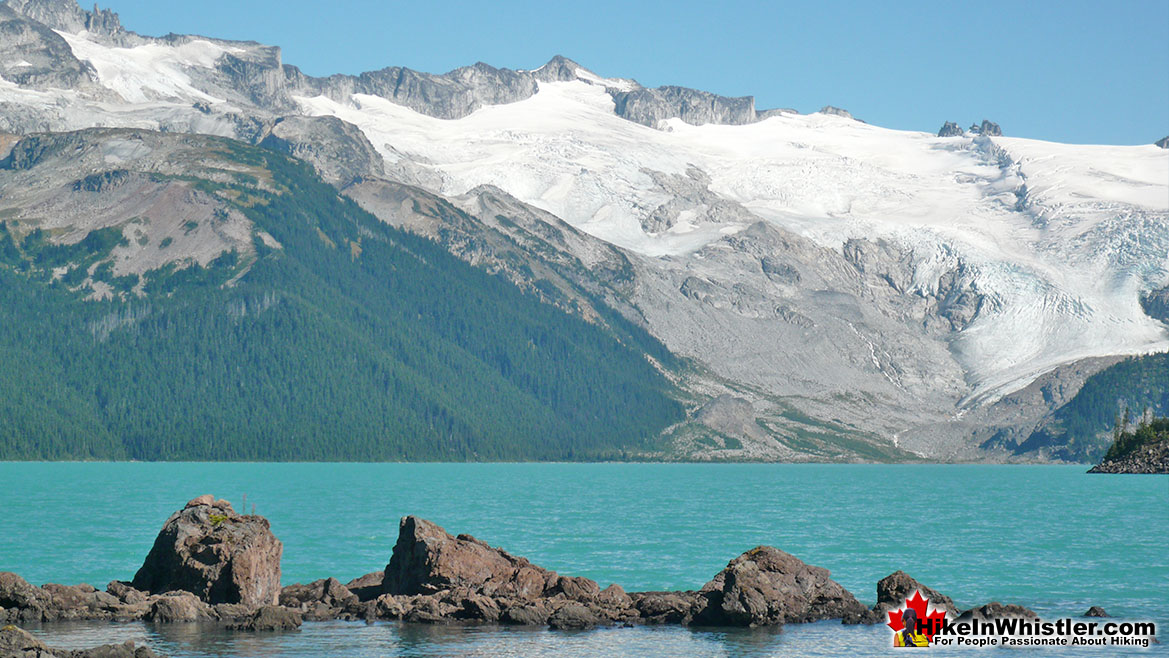 Garibaldi Lake and Distant Glacier