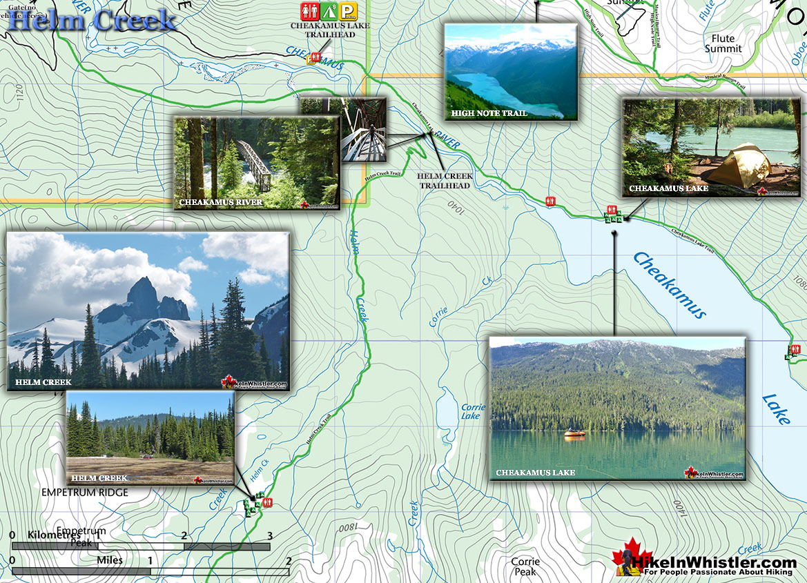 Helm Creek Hiking Trail Map
