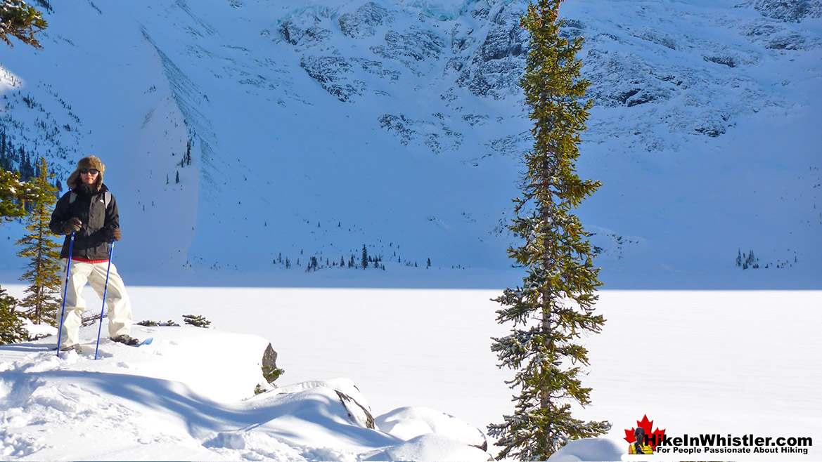 Joffre Lakes Snowshoeing
