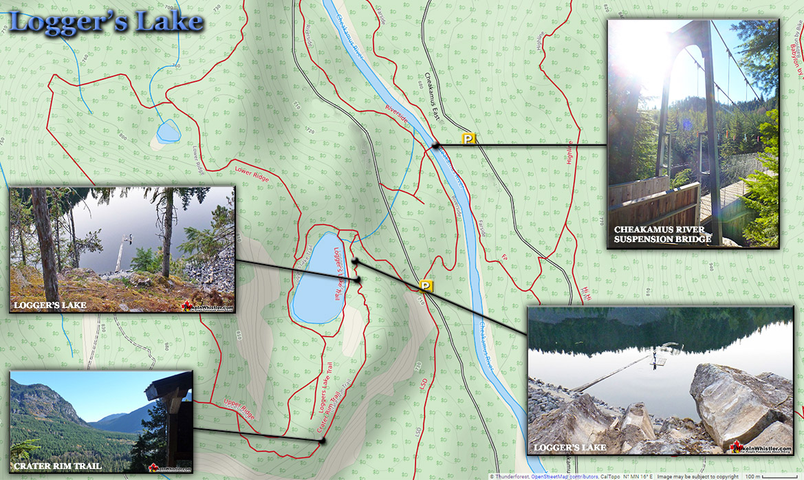 Logger's Lake Hiking Map