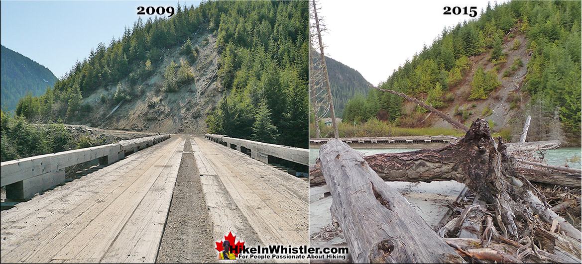 Meager Bridge Before and After