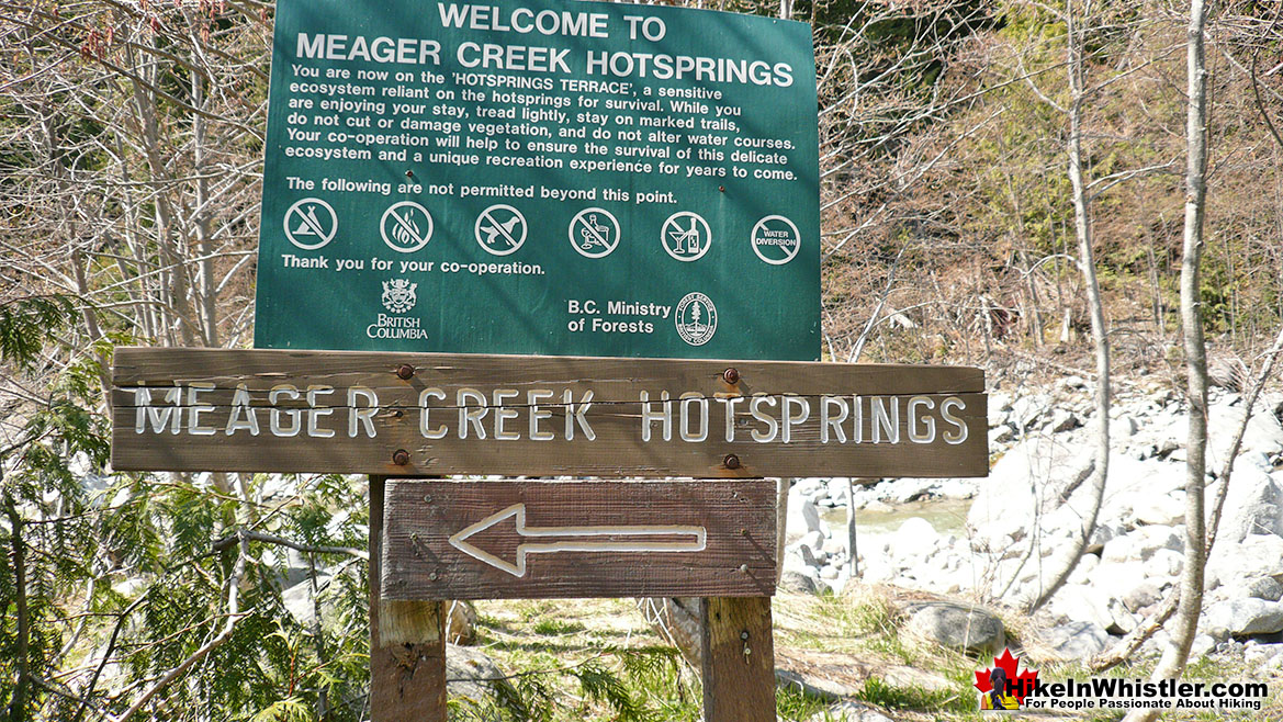 Meager Creek Hot Springs Old Sign