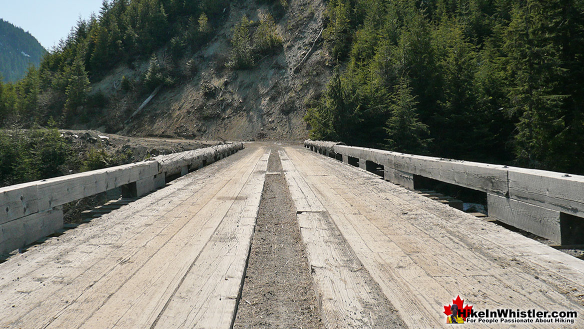 Meager Bridge in 2009 Before the 2010 Meager Slide