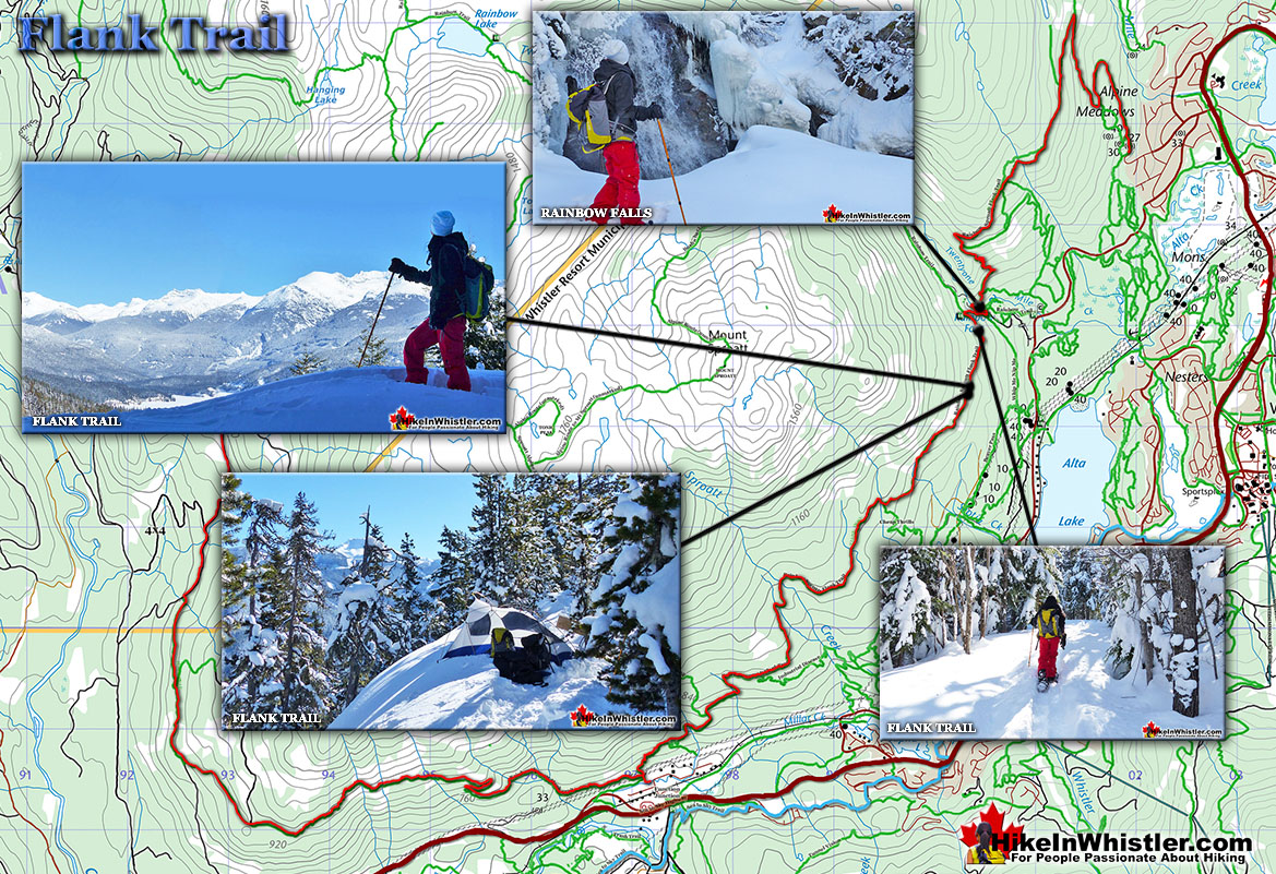 Flank Trail Snowshoe Map