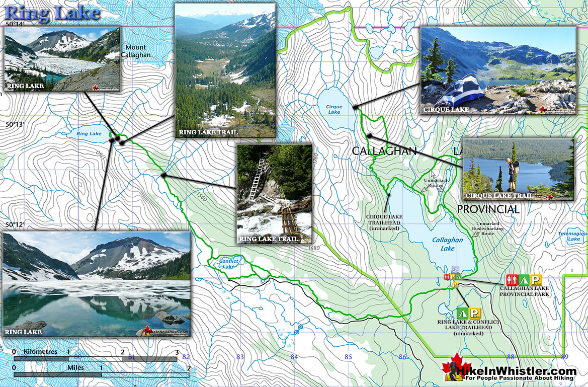 Ring and Conflict Lake Trail Map