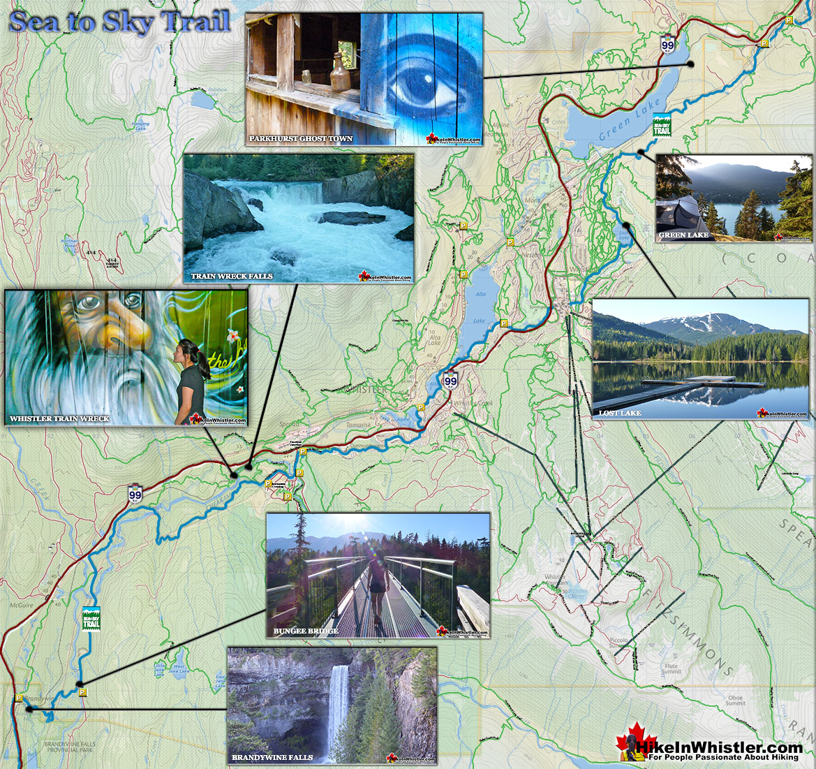 The Sea to Sky Trail Map