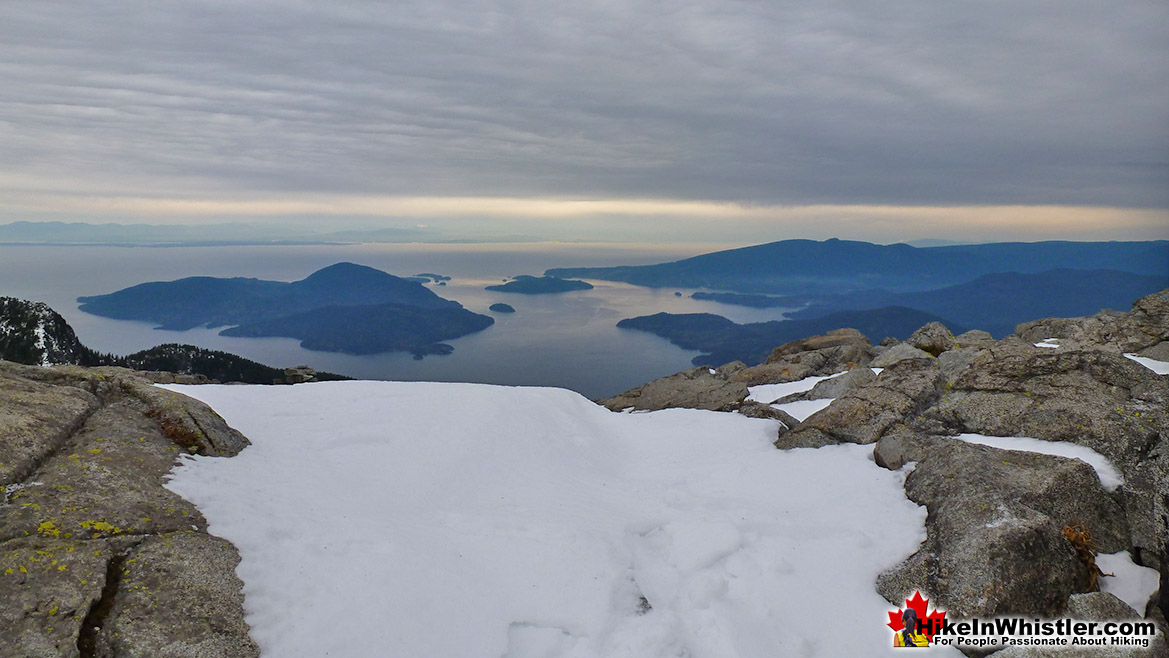 The Lions Summit View of Howe Sound