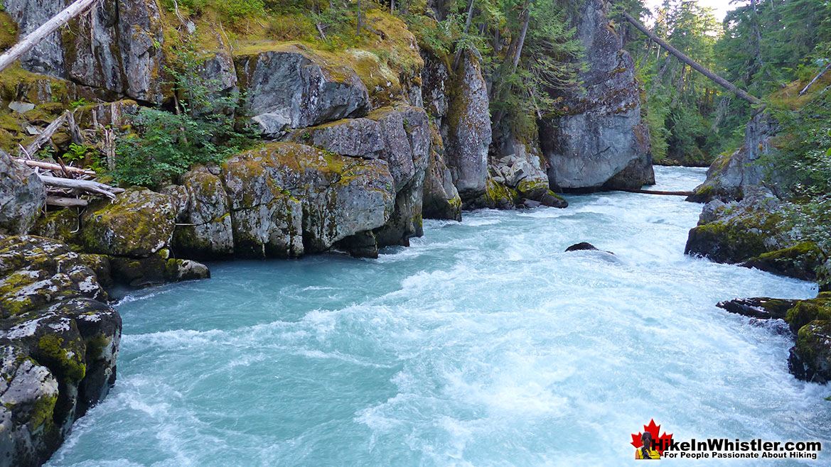 Cheakamus River at Whistler Train Wreck