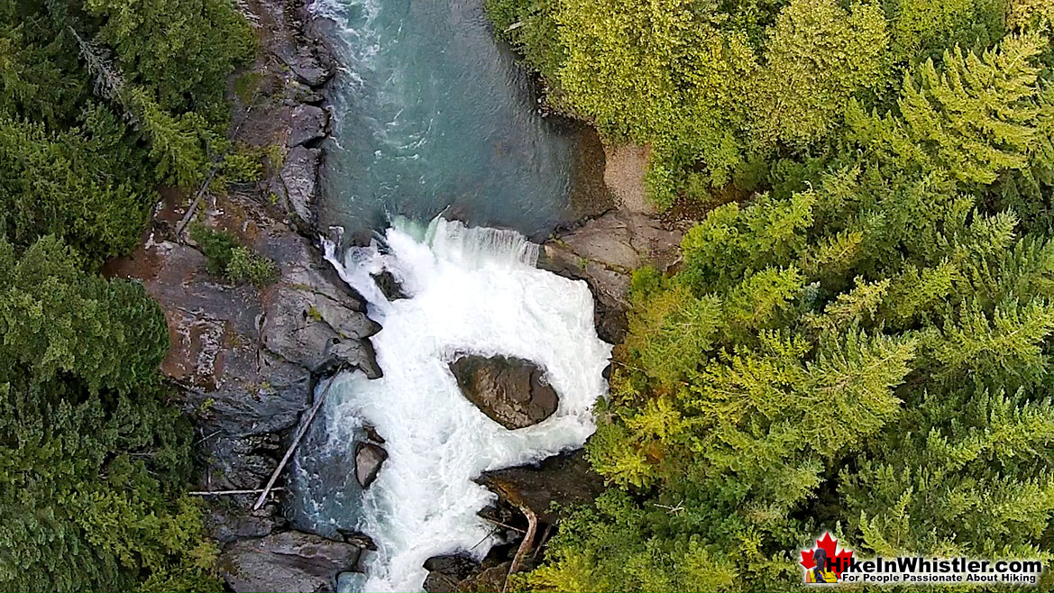 Train Wreck Falls Aerial View Hike in Whistler