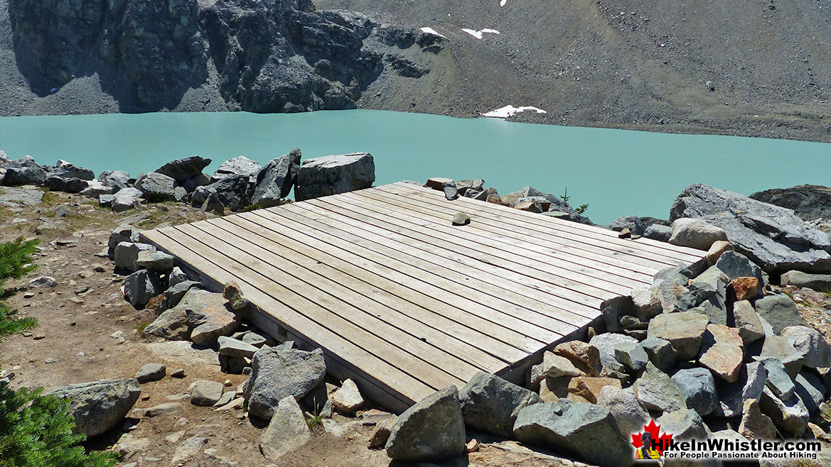 Wedgemount Lake Tent Platform
