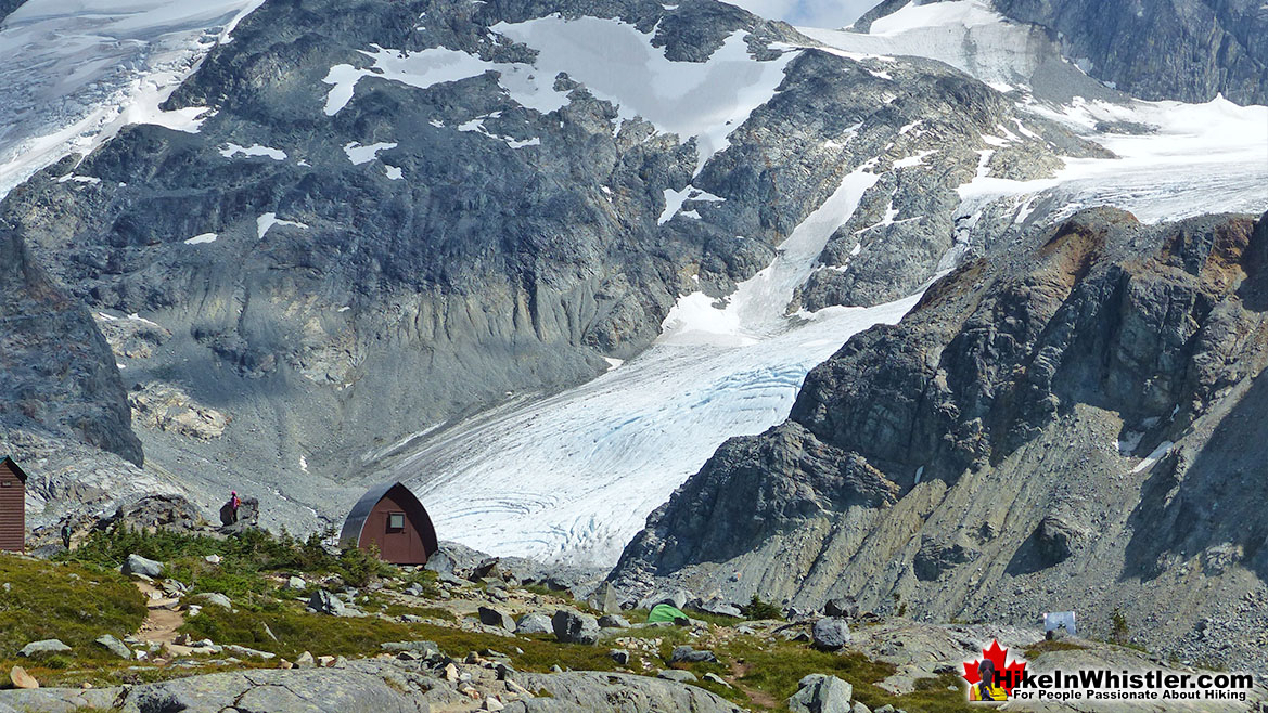 Wedge Hut and Wedge Glacier