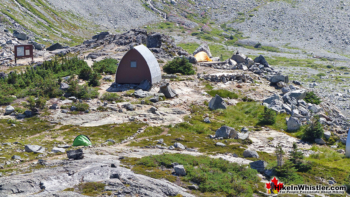 Wedge Hut and Tents from Above
